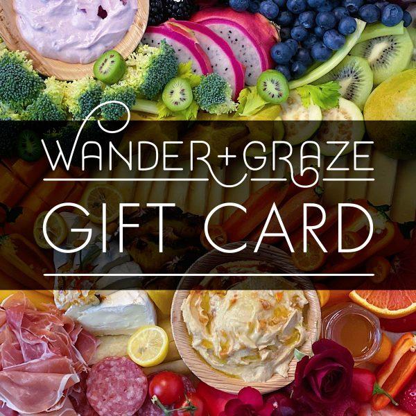wander + graze gift card